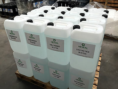 DEIONISED WATER | 30x 25 LITRE | (De Mineralised/De Ionised/Not Distilled) 750 L