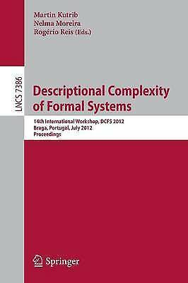 Descriptional Complexity of Formal Systems, Martin Kutrib