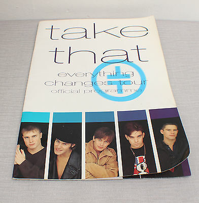 Take That used Everything Changes Tour Official Programme 1993