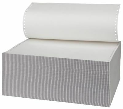 """3 Part Computer Listing Paper M44 All White 279 x370mm 11"""" x 14.5"""" 700 Sheets K3"""