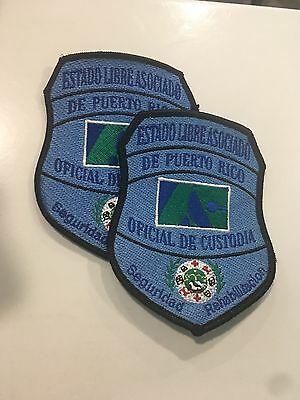 Puerto Rico State Estado Libre Asociado Correctional Collectible Patches