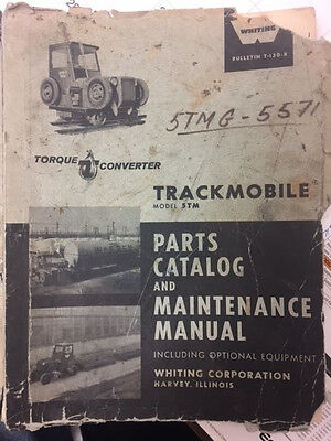 Whiting Trackmobile 5TM OEM Parts and Maintenance Maunal