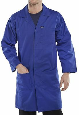 Click Workwear Poly Cotton Warehouse Coat Blue PCWCR