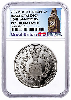 2017 Great Britain House Windsor Centenary Piedfort Silver NGC PF69 UC SKU48193