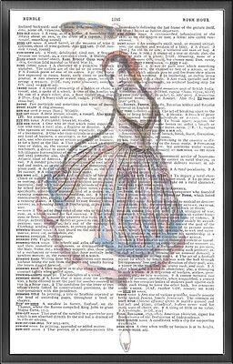 Gipsy Tambourine Altered Art Print Upcycled Vintage Dictionary Page