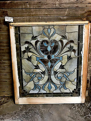 2 Antique leaded stained glass windows