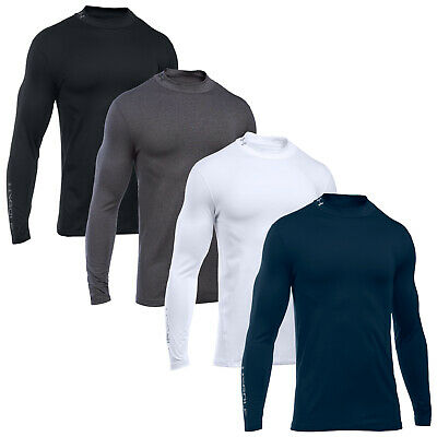 Under Armour Mens Golf Coldgear Mock Top - New UA Baselayer Thermal Turtle Neck