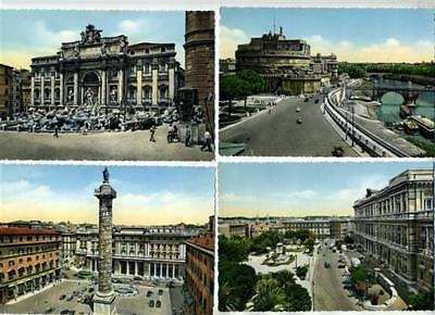 8 Different Unused Rome Italy Color Real Photo Postcards 1950's Group 1