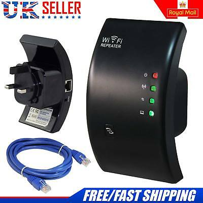Wireless Wifi Router Repeater 300Mbps N 802.11 AP Range Extender Booster UK Plug