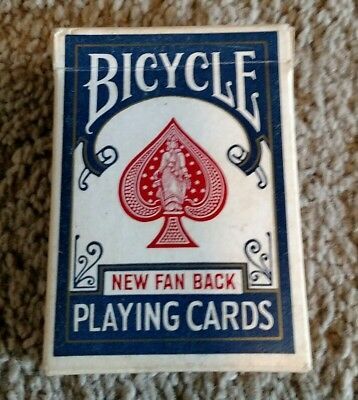 Vintage BICYCLE Playing Cards Fan Back Blue