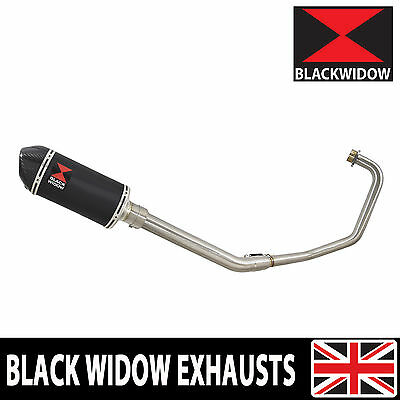 Keeway RKV 125 2012-2017 Exhaust + 200mm Black Stainless + Carbon Silencer BC20V