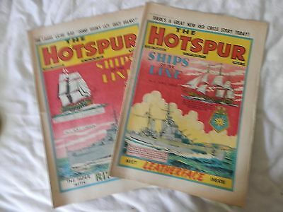 HOTSPUR comic Nos 1006 and 1007 (1956)