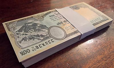 - 100 - BUNDLE - 500 Rupees Nepal Currency 2016 Mt. Everest, Two Tiger NEW UNC