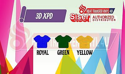 "Siser 3D-XPD Heat Transfer Vinyl 18"" x 12"" - Yellow"