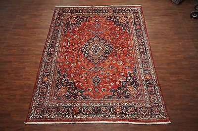 10X13 Persian Mashad Antique Signed Hand-Knotted Wool Area Rug Oriental Carpet