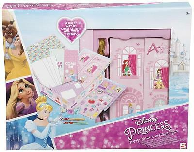 Disney Princess Secret Diary and Keepsake Box Girls Childrens Gift Toy Official
