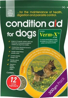 GWF Nutrition - Condition Aid with Verm-X Dog Supplement x 300 Gm