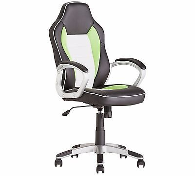 Gaming Chair Computer Desk Chair Home Executive Leather Perfect Posture GREEN