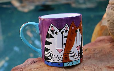 Catzilla Large Coffee Cup Mug by Candace Reiter Designs 2001 - Cat Lover Gift