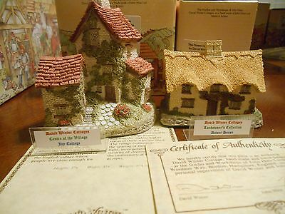 David Winter The Dower House & Ivy Cottage Boxes Coa,1982