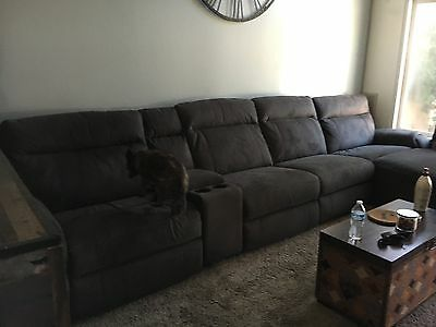 5PC MODERN 2-TONE Microfiber Big Sectional Sofa S150Rbg - $1,000.00 ...
