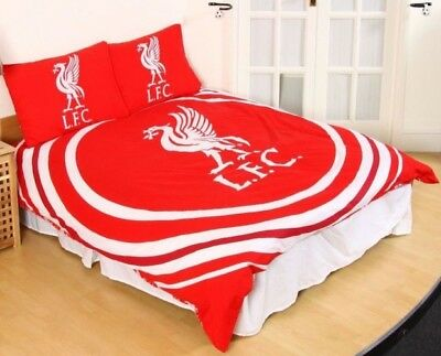 Liverpool FC Red Pulse Double Duvet Cover Set Official Football Bedding LFC