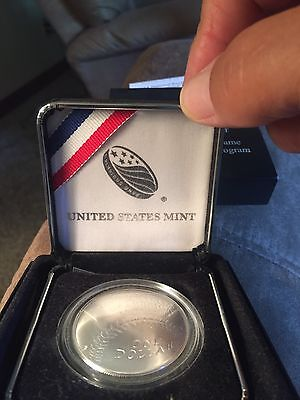 2014 US Mint Baseball Hall of Fame Curved Uncirculated Silver Dollar in OGP
