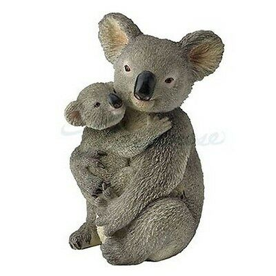 "Koala Bear Holding Cub Figurine Statue 4.25"" High New in Box Koalas"