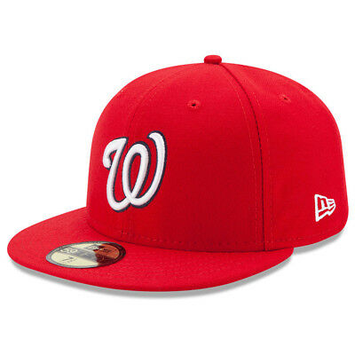 New Era 5950 Youth Washington Nationals HOME Fitted Hat (Red) MLB Kid's Cap