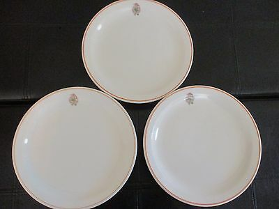 Lot of 3 TERMINAL CITY CLUB, VANCOUVER B.C. Restaurant Ware PLATES - 1960's