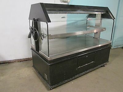 """custom Deli's"" Hd Commercial 2 Tiers Lighted ""hen-House"" Hot Food Merchandiser"