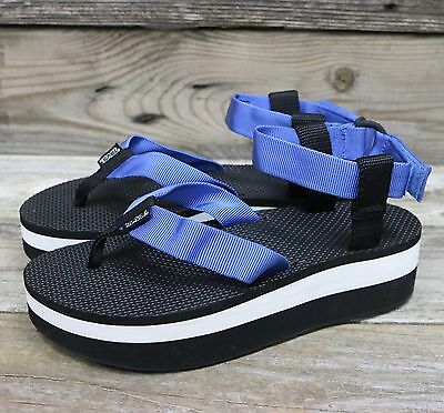 901bd4820 TEVA Womens Original Sandal Flatform French Blue Platform Sandals US 10 NEW!