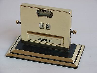 Art Deco Jacob MAUL 1930 perpetual calendar brass German modernist vintage Jakob