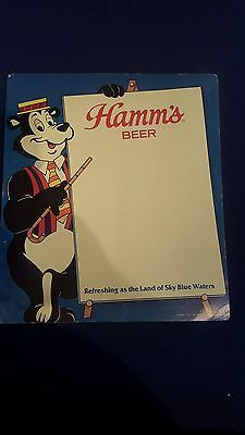 Hamms beer sign, cardboard, 1987