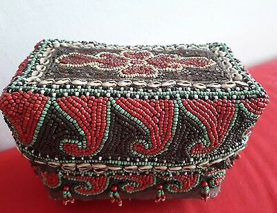 Beaded tribal wedding box basket Sumatra Indonesian