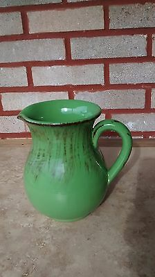 Vintage Green Italian Pottery/ Pitcher 6 3/4'' High