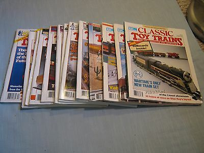 Lot Of 13 Classic Toy Trains Magazine 1992-1995