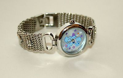 Vintage 2006 Blue Care Bears Crystal Bracelet Watch New Box NOS Kids Womens