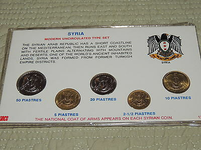 Syria Modern Uncirculated Type Coin Set. 1970's