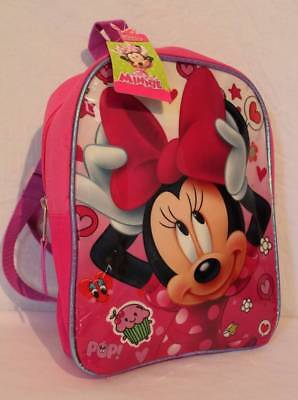 """NEW Toddler Girls Backpack Disney Minnie Mouse Pink 10"""" Book Bag School Tote"""