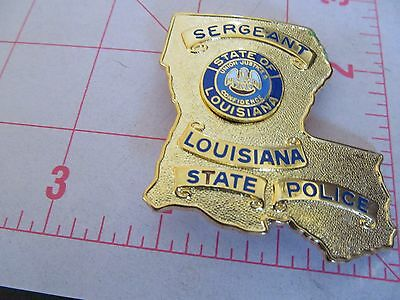 Vintage Sergeant Louisiana State Police Badge 3Rd Issue