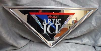 """Coors Brewing Company """"Artic Ice"""" 1995 Triangular Mirror Beer Sign (SK1617)"""