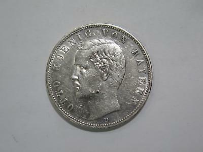 1907 D Germany 5 Funf Mark Deutsches Reich Silver Coin Old World Collection Lot