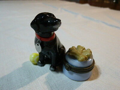 Midwest For Cannon Falls Hinged Miniature Trinket Box Black Dog