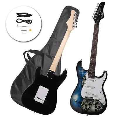 New ST-E 22-fret Rosewood Fingerboard Electric Guitar w/ Bag & Accessories Blue