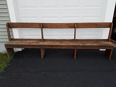 very old antique church pew / bench