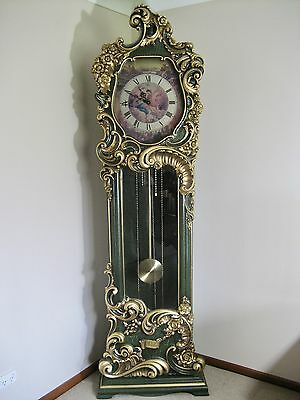 Baroque Style Grandfather Hall Clock - Hand Carved In Italy - Ornate