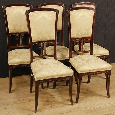 5 chairs Liberty furniture living room armchairs wood antique style vintage 900