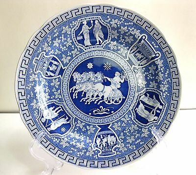 Vtg Spode Archive Coll. Traditions Series–Greek (Blue) 10 ½ Inches Dinner Plate