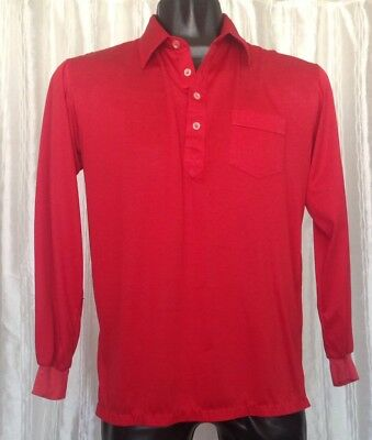 Sahara Hotel Las Vegas Employee Shirt Men's Extra Large XL Red Long Sleeve
